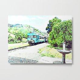 Fognano: departing train Metal Print