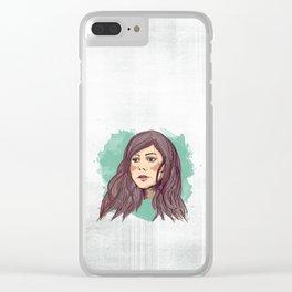 Mermaid Hair Clear iPhone Case