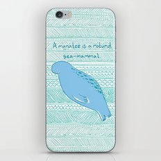 Manatees are Rotund Sea-Mammals iPhone & iPod Skin