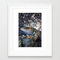 lizard Framed Art Prints featuring Lizard by John Turck