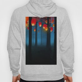 Lantens in  Blue Forest Hoody