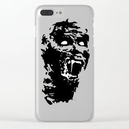 Zombie Face Clear iPhone Case