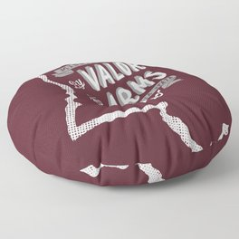 Mississippi Motto (Maroon) Floor Pillow