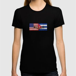 United States and Cuba Flags United T-shirt