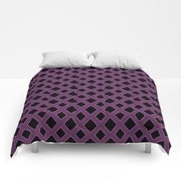 Purple Diamond Pattern Comforters