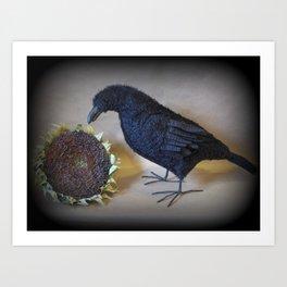 Corvid the Crow Art Print