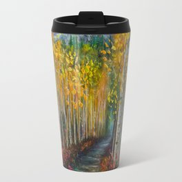 Nelly Creek painting of Uncompahgre National Forest Travel Mug