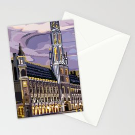 Brussels, Belgium pixel art Stationery Cards