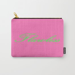 Flawless Pink & Green Carry-All Pouch