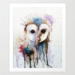 Owl in Colour Art Print