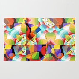 Prismatic Abstract Rug