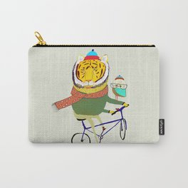 Tiger and Owl biking. Carry-All Pouch