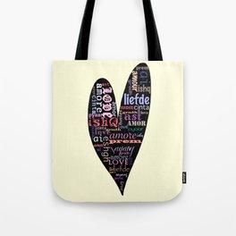 Multilingual Love Tote Bag