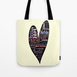 Multilingual Love Tote Bag