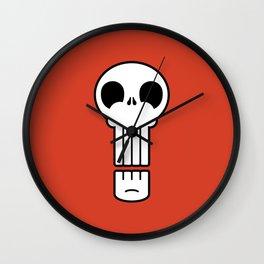 Long Skull Wall Clock