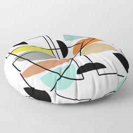 "Mid Century Modern ""Bowls"" Floor Pillow"