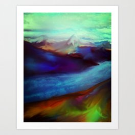 Stunning view of relaxation land Art Print