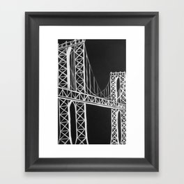 No. 59 Brooklyn Bridge  Framed Art Print
