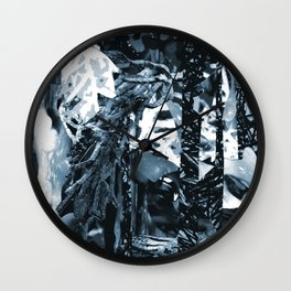 Neutralized Surreal-Real Textures Wall Clock