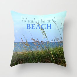 WORDS - SEA OATS Throw Pillow
