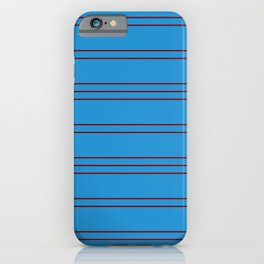 Simple Lines Pattern br iPhone Case