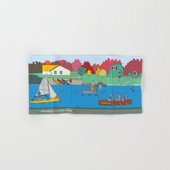 Canoeing Summer Camp Hand & Bath Towel
