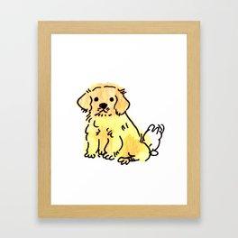 Butters - Puppy Watercolour Framed Art Print