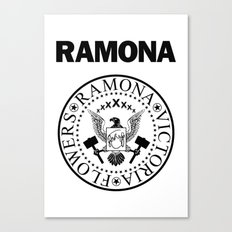Ramona - White Canvas Print