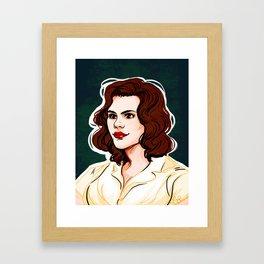 Peggy Carter Framed Art Print