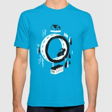 The Suburbs Teal Mens Fitted Tee X-LARGE