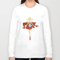 supergirl Long Sleeve T-shirts featuring [Ame-Comi] Supergirl by Batcheeks