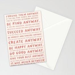 Anyway #MotherTeresa Stationery Cards