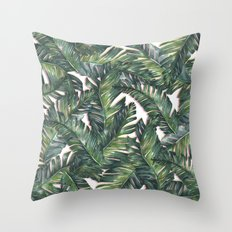 banana leaf 3 Throw Pillow