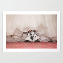 HER SHOES Art Print