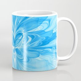 Blue Jeans Colors And White, Abstract Fractal Art Coffee Mug