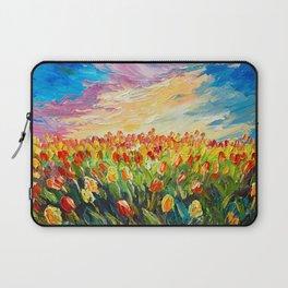 Tulip field paiting Laptop Sleeve
