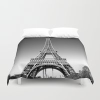eiffel Duvet Covers featuring eiffel by Michelle Loidl