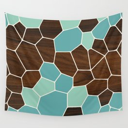 Geode in Blue Wall Tapestry