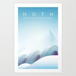 Outer Rim Travel Bureau: Hoth Art Print