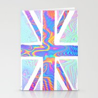 holographic Stationery Cards featuring Holographic Union Jack  by Berberism