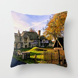 Almonry in Autumn Throw Pillow