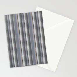 Parisienne Stripes in Ash Stationery Cards