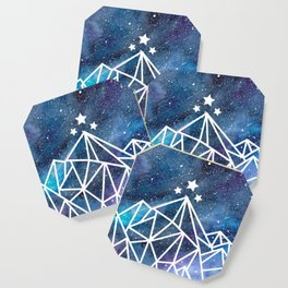 Watercolor galaxy Night Court - ACOTAR inspired Coaster