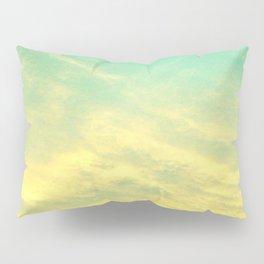 Green Yellow Sunset Pillow Sham