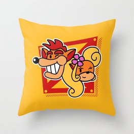 A couple of bandicoots Throw Pillow