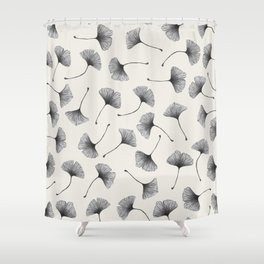 Ginkgo Leaves Cream Shower Curtain