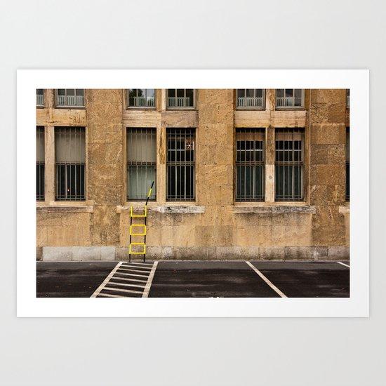 Tempelhof Ladder Art Print