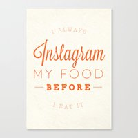 instagram Canvas Prints featuring Instagram by PaulWorm
