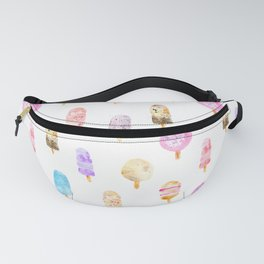 Dolce vita || watercolor ice cream summer pattern Fanny Pack