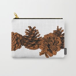 Brown Pine Cones Carry-All Pouch